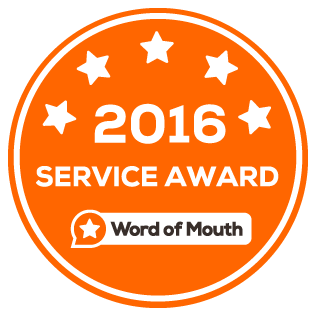 Word of Mouth Service Award - 2016