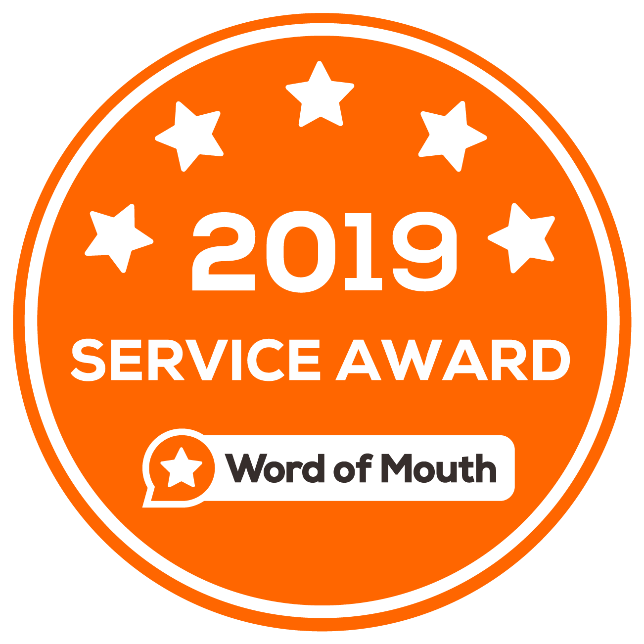 Word of Mouth Service Award - 2019