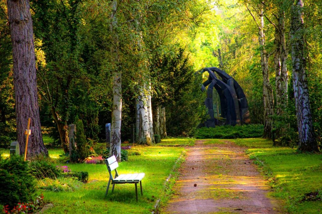 bench-carved-stones-cemetery- funeral loans